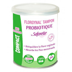 saforelle florgynal tampon probiotique avec applicateur compact 9 super
