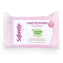 saforelle lingettes intimes ultra douces 10 lingettes