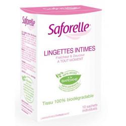 SAFORELLE LINGETTES INTIMES ULTRA DOUCES 10 SACHETS INDIVIDUELLES