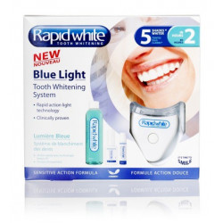 rapid white blue light kit de blanchiment dentaire