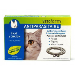 VETOFORM ANTIPARASITAIRE COLLIER INSECTIFUGE CHAT ET CHATON