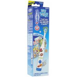 spinbrush my way brosse à dents électrique enfants 3 ans et + garçon