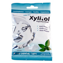 miradent xylitol drops menthee 26 pastilles à sucer