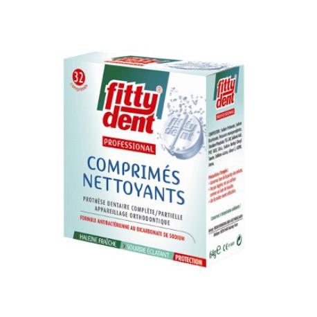 FITTYDENT PROFESSIONAL COMPRIMÉS NETTOYANTS 32 COMPRIMÉS