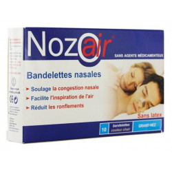 nozoair bandelettes nasales grand nez 10 bandelettes