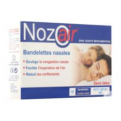 nozoair bandelettes nasales petit moyen nez 10 bandellettes