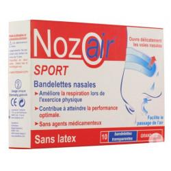 nozoair sport bandelettes nasales grand nez 10 bandelettes