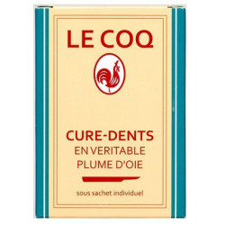 le coq 50 cure-dents plume d'oie
