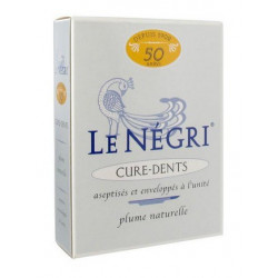 le négri 50 cure-dents plume d'oie