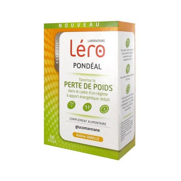 Léro Pondéal Perte de Poids Vanille 30 Sticks