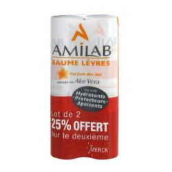 amilab baume lèvres parfum des iles 2 x 3.6 ml