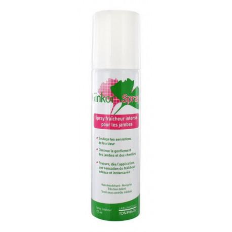 ginkor spray fraîcheur intense pour les jambes 125 ml