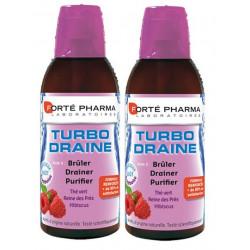 forté pharma turbodraine framboise 2 x 500 ml