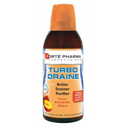 forté pharma turbodraine thé vert/ pêche 500 ml