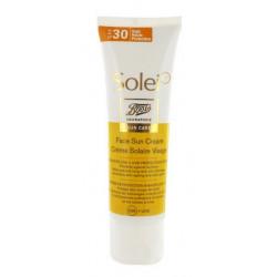 Solei Crème Solaire Visage SPF 30 50 ml