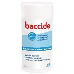 baccide 100 lingettes mains et surfaces