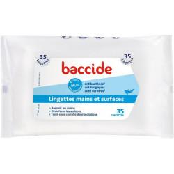 Baccide 35 Lingettes Mains et Surfaces