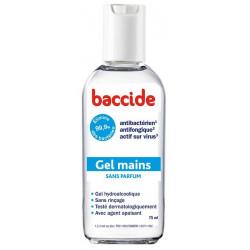 baccide gel mains sans rinçage sans parfum 75 ml