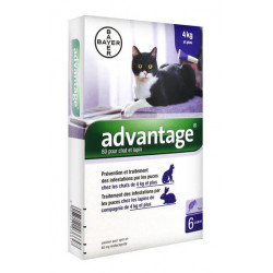 advantage 80 chat et lapin 6 pipettes