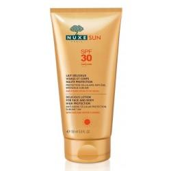 nuxe sun lait délicieux visage et corps haute protection spf 30 150 ml