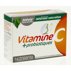nutrisanté vitamine c + probiotiques 24 comprimés