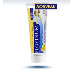 elgydium protection caries kids dentifrice banane 50 ml