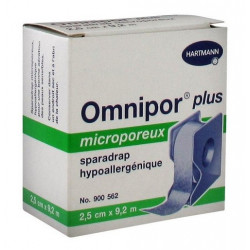 omnipor plus sparadrap microporeux 2.5 cm x 9.2 m
