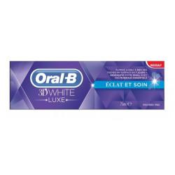 oral-b dentifrice 3d white luxe eclat et soin 75 ml