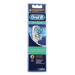 oral-b dual clean 3 brossettes