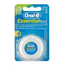 oral-b essential floss fil dentaire ciré mentholé 50 m