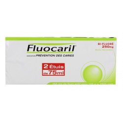 fluocaril bi-fluoré 250 mg menthe 2 x 75 ml