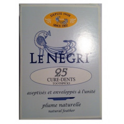 le négri 25 cure-dents plume d'oie