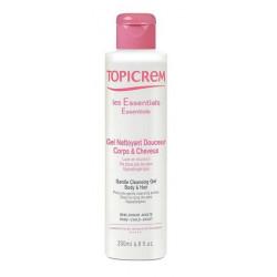 topicrem les essentiels gel nettoyant douceur corps & cheveux 200 ml