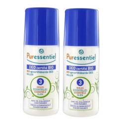 puressentiel déo certifié bio roller aux 3 huiles essentielles 2 x 50 ml