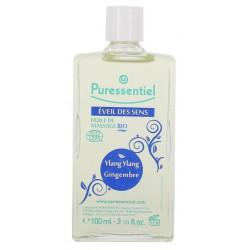 puressentiel éveil des sens huile de massage bio 100 ml