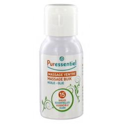 puressentiel huile massage ventre aux 15 huiles essentielles 50 ml