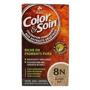 3 chnes color soin coloration blond bl 8n - Coloration Vegetal