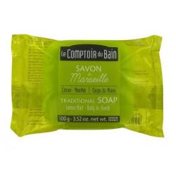 le comptoir du bain savon de marseille citron menthe 100 g