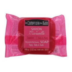le comptoir du bain savon de marseille coquelicot 100 g