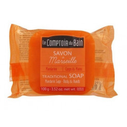 le comptoir du bain savon de marseille mandarine sauge 100 g
