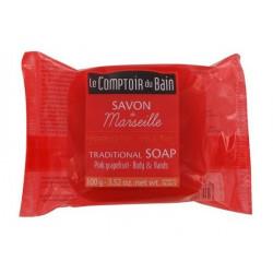 le comptoir du bain savon de marseille pamplemousse rose 100 g