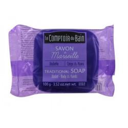 le comptoir du bain savon de marseille violette 100 g