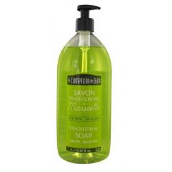 le comptoir du bain savon traditionnelle de marseille citron menthe 1l