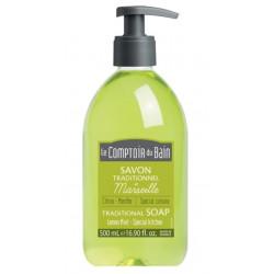 le comptoir du bain savon traditionnelle de marseille citron menthe 500 ml