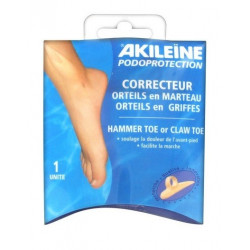 akileïne podoprotection correcteur orteils en marteau orteils en griffes pied gauche taille s