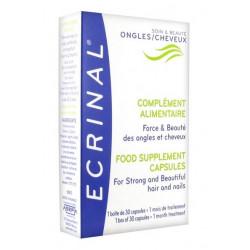 ecrinal complément alimentaire force & beauté ongles et cheveux 30 capsules