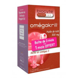 BIOCYTE OMEGAKRILL 500 MG 3 X 30 CAPSULES