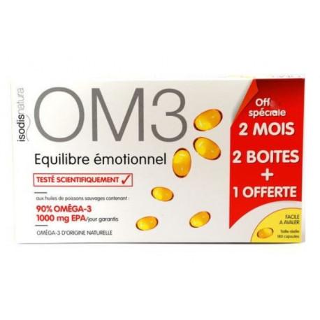isodisnatura om3 équilibre émotionnel 3 x 60 capsules