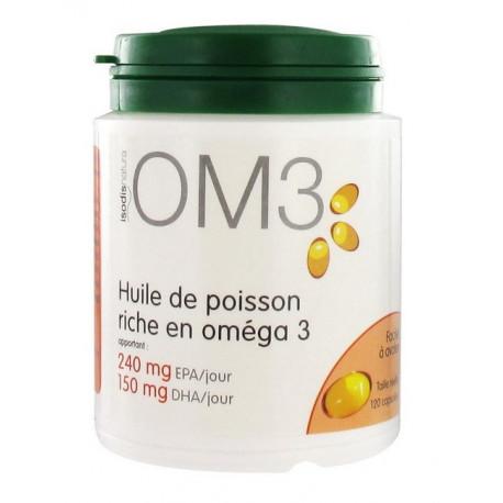 isodisnatura om3 huile de poisson 120 capsules