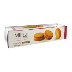 MILICAL 12 BISCUITS FOURRÉS CAFÉ